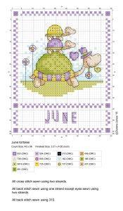 Gráfico em Ponto Cruz: Calendário 2015 Durene Jones