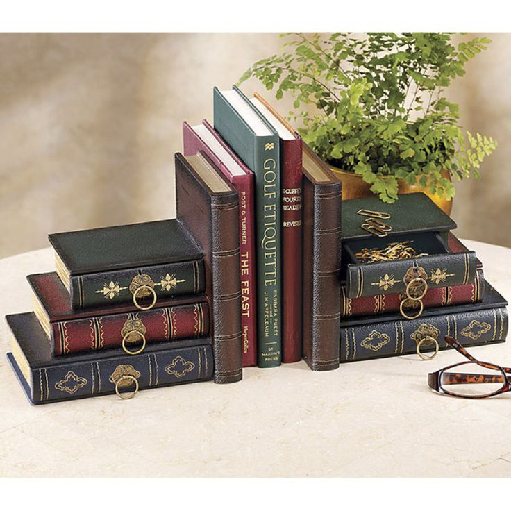 Pair of Olde World Library Bookends - Stylish Home Accents and Décor - Graceful Clothing, Accessories & Jewelry