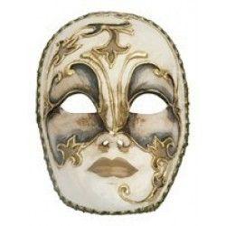 Αποκριάτικη Μάσκα Βεn Paper Mache Ασημί