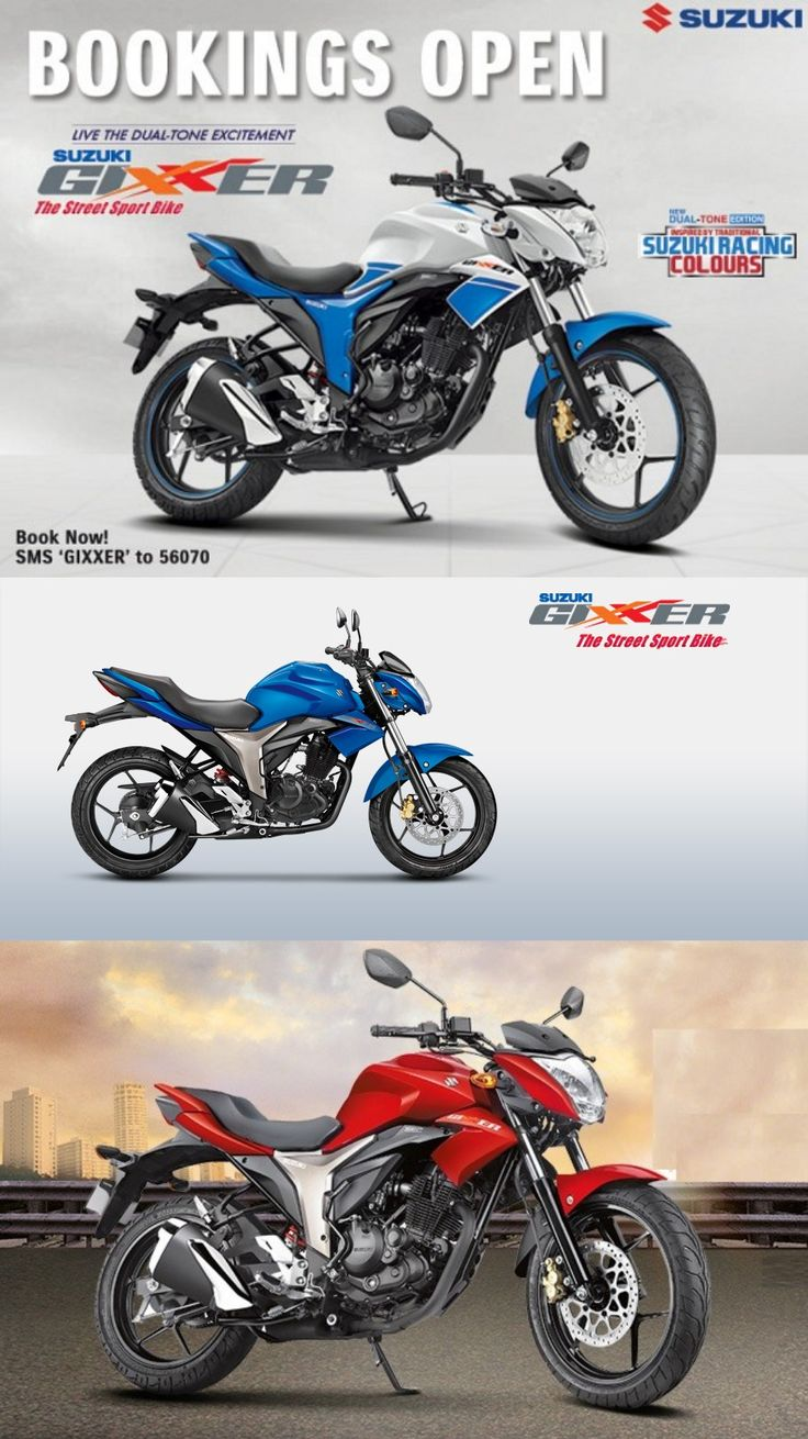 Suzuki india introduces gixxer is now available in dual tone color options suzukigixxersf