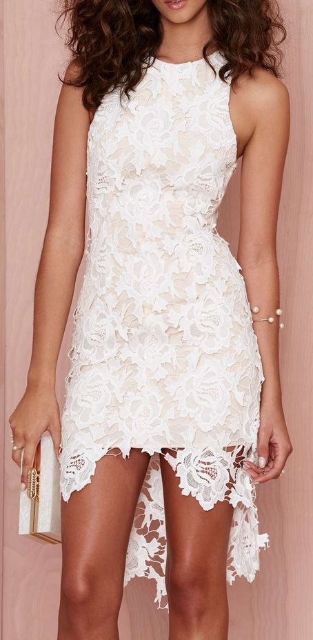 Lace Dress ... would add a little length to the underneath part of the dress .... overall, I love it!!