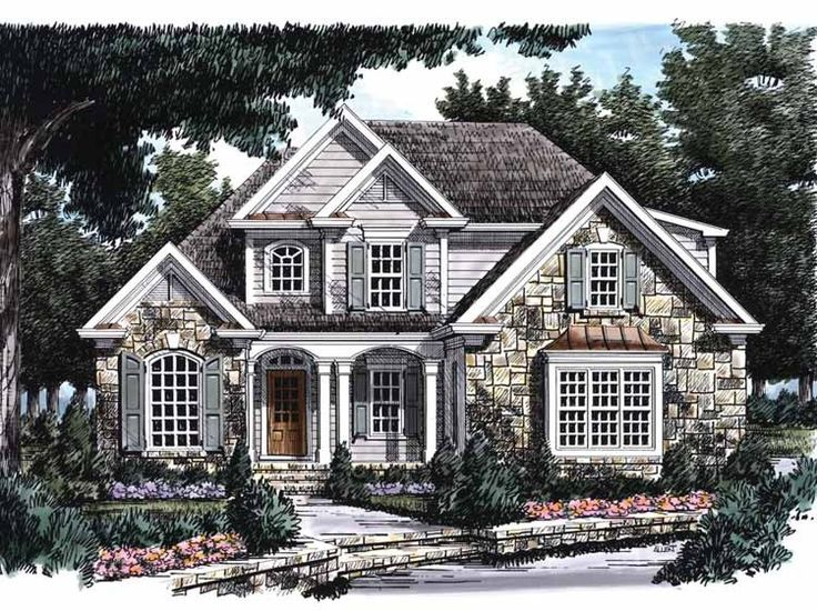 French Country House Plan with 1879 Square Feet and 3 Bedrooms from Dream Home Source | House Plan Code DHSW25765