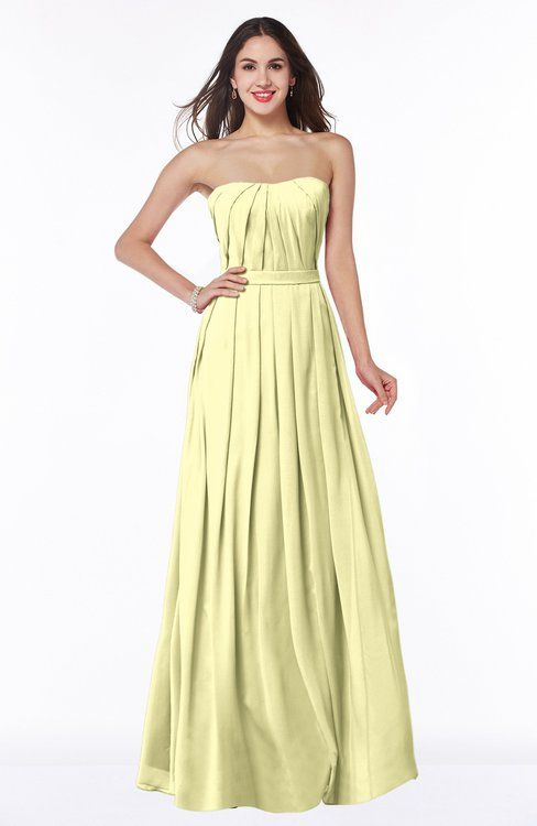 Classic A-line Strapless Sleeveless Chiffon Plus Size Bridesmaid Dresses