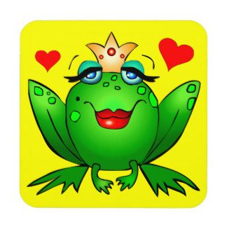 Funny Frog Cartoons Drink & Beverage Coasters | Zazzle.co.nz