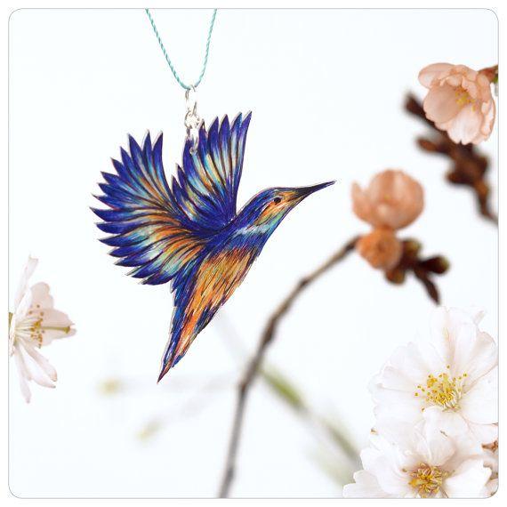 Halskette Vogel Vogelkette Eisvogel EISVOGEL IM von fraufischers