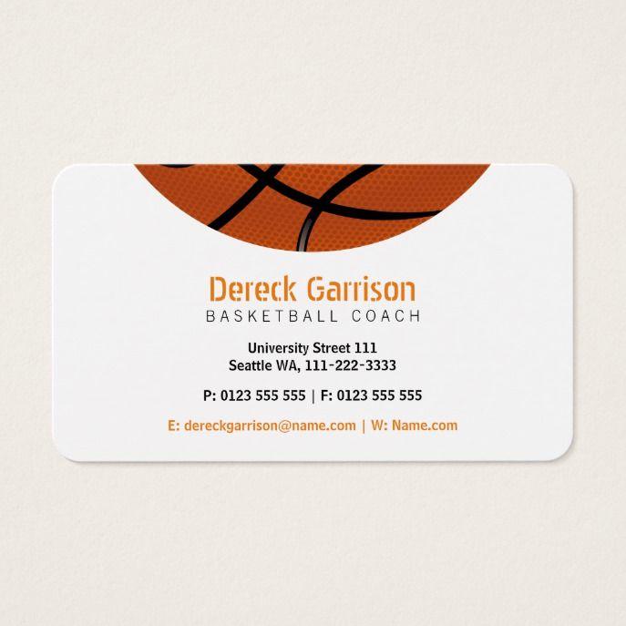 Basketball Coach Sport Business Card Custom Professional