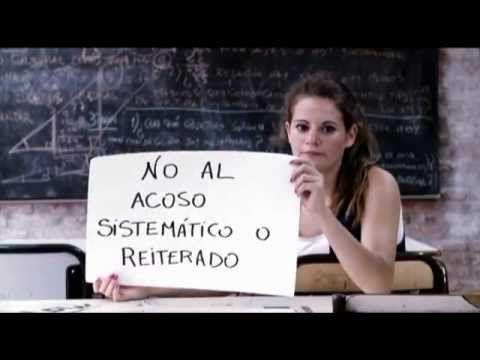 Campaña contra el acoso escolar - YouTube - UNICEF- cuéntaselo a tu familia, amigos y docentes. Frenemos el acoso!