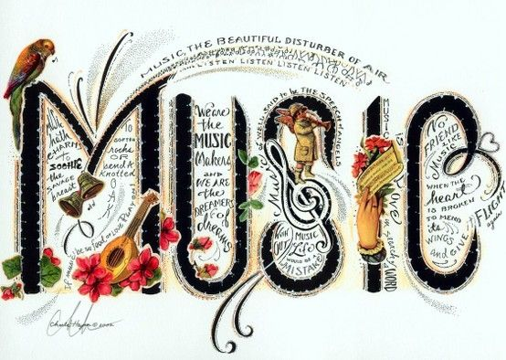 """Music ... the beautiful disturber of air."" #music #quotes"