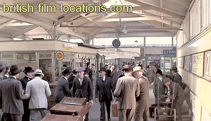 This is a still from the film 'Chariots of Fire', filmed at Woodside Ferry Terminal in Birkenhead, representing 'Dover Station', from which the athletes leave for the Olympic Games in France. In fact, much of 'Paris'in the film 'Chariots of Fire' is actually Merseyside. The 'British Embassy' ball, where the Prince of Wales tries to persuade Liddell to run on the Sabbath, is Liverpool Library and Town Hall, and the 'French café' is the no-longer-used chapel of the Royal Hospital, Liverpool.