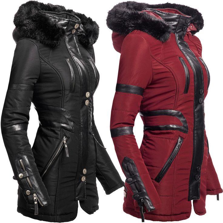 Navahoo Moon Damen Designer Winter Jacke warmer Mantel lang Parka gefüttert YM9…