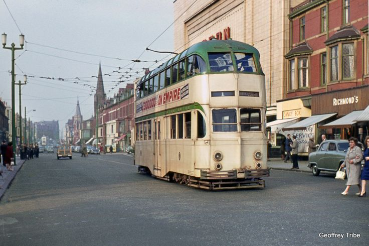 https://flic.kr/p/MkcUpE | Blackpool Balloon at North Station | Blackpool 237 stands at the extreme end of track on the cut-back North Station terminus on 26th October 1963.