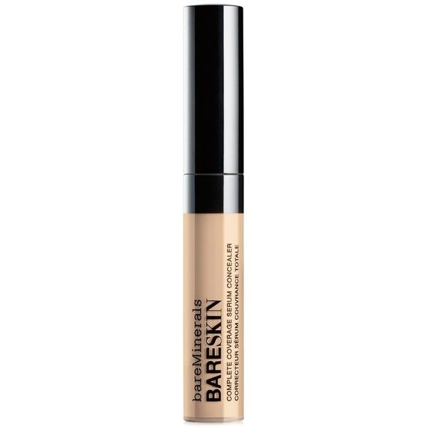 Bare Escentuals BareMinerals bareSkin Complete Coverage Serum... found on Polyvore featuring beauty products, makeup, face makeup, concealer, tan, mineral concealer, bare escentuals concealer and bare escentuals