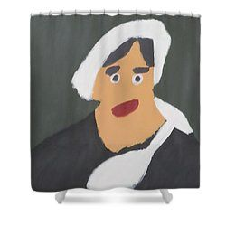 Shower Curtain featuring the painting Portrait Of A Woman With White Cap 2015 - After Vincent Van Gogh by Patrick Francis