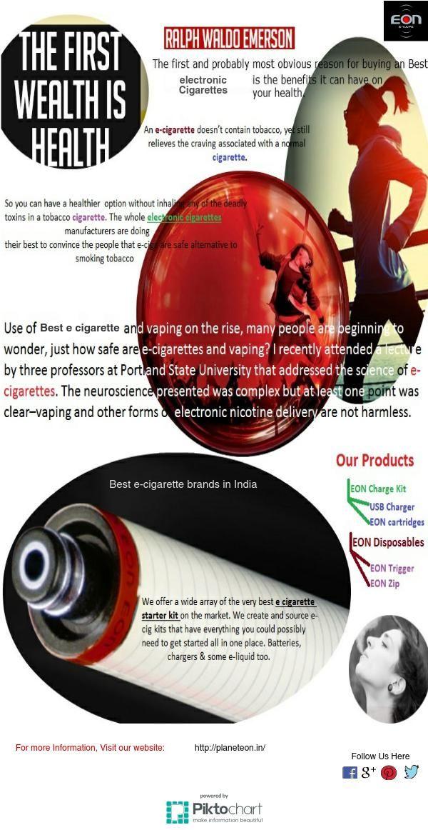 EON  #Electroniccigarettes are  #BestecigarettebrandsinIndia, It doesn't contain tobacco still give to pleasant experience.