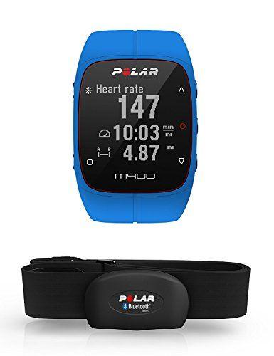 Polar M400 Montre Cardio/GPS Multisport avec Ceinture Cardiaque Bleu: Ecran haute définition 128 x 128 Tracking de l'activité 24/7, pas,…