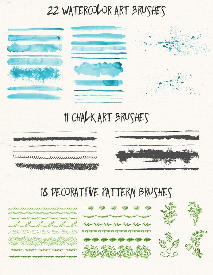 51 buenos pinceles vectoriales para Illustrator