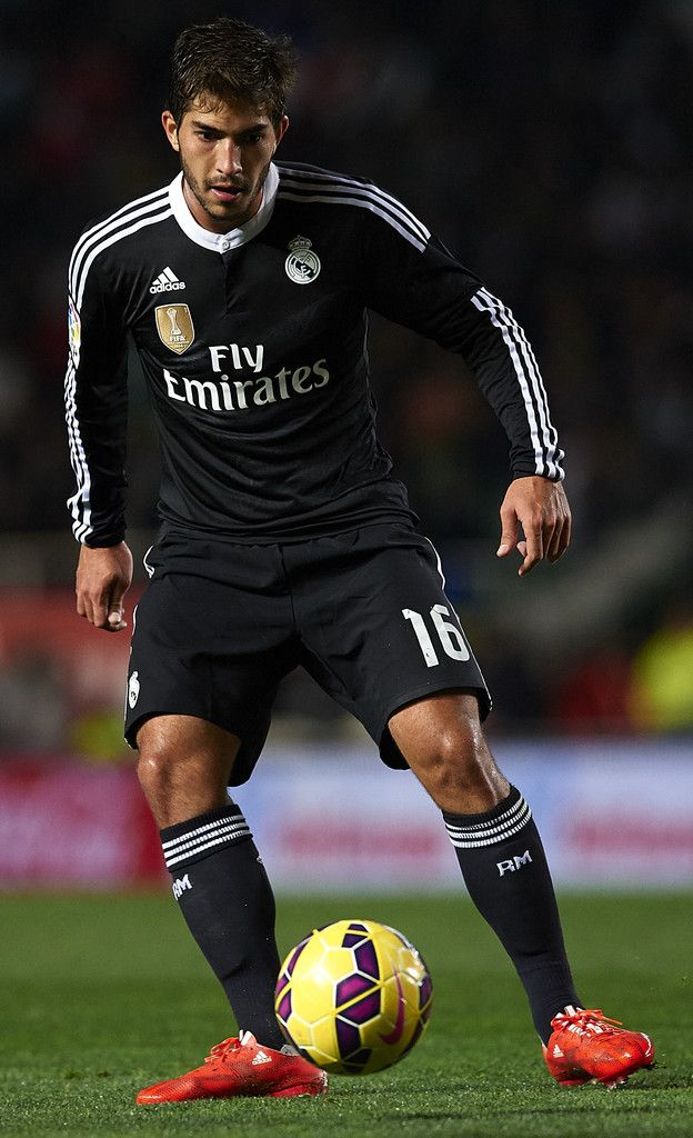 Lucas Silva of Real Madrid in action during the La Liga match between Elche FC and Real Madrid CF at Estadio Manuel Martínez Valero on February 22, 2015 in Elche, Spain.