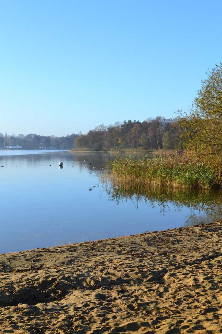Frensham Pond, near Farnham, Surrey, UK. Used as a location for the lake village in Snow White and the Huntsman.