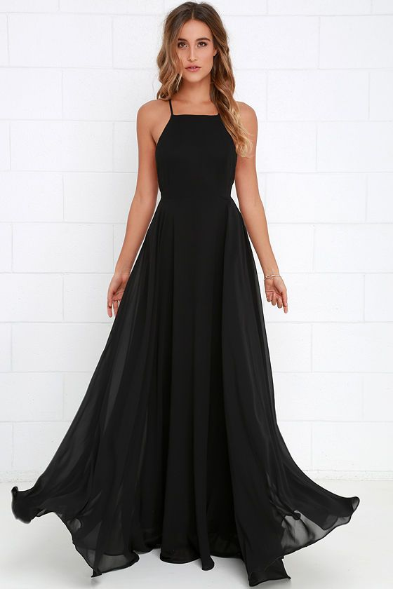 The Mythical Kind of Love Black Maxi Dress is simply irresistible in ...