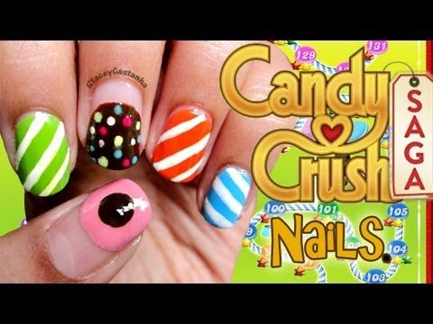 Candy Crush inspired nails | Tutorial - Glam Express
