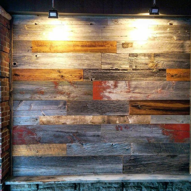 Mixed colour reclaimed barn board feature wall we did for Princess Thai restaurant on King Street in Toronto.  Hard to beat 100 plus year old authentic Ontario barn board for adding texture and character to any space.  What do you think of mixing the different coloured boards?  Barnboardstore sells and installs feature walls in Hamilton Toronto and the GTA - dm us at sales@barnboardstore.com for a quote.  #featurewall #rusticwall #barnboard #barnwood #barn #reclaimed #modern #reclaimedwood…