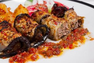 Meatballs Wrapped in Roasted Eggplant Slices in a Rich Tomato Sauce : TastyFood