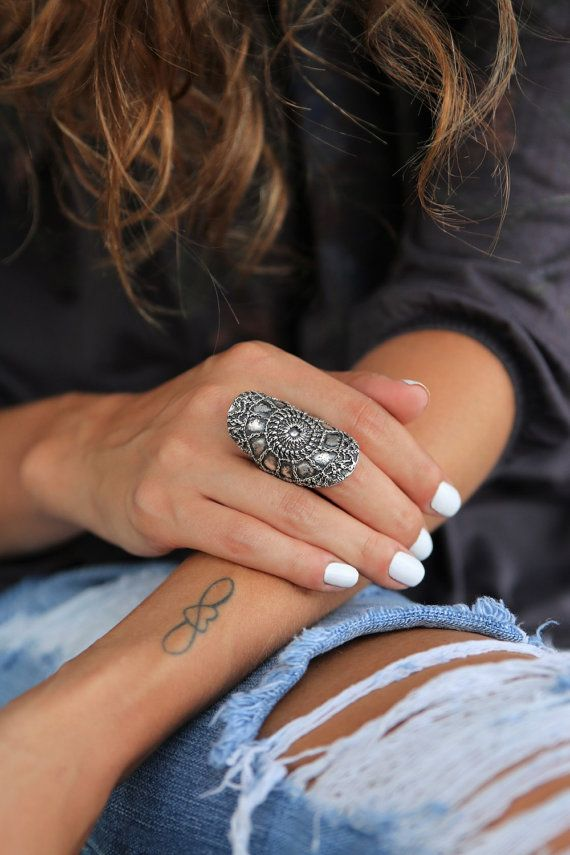 Chunky Hippie Ring Chunky Hippie Jewelry Sterling by HappyGoLicky