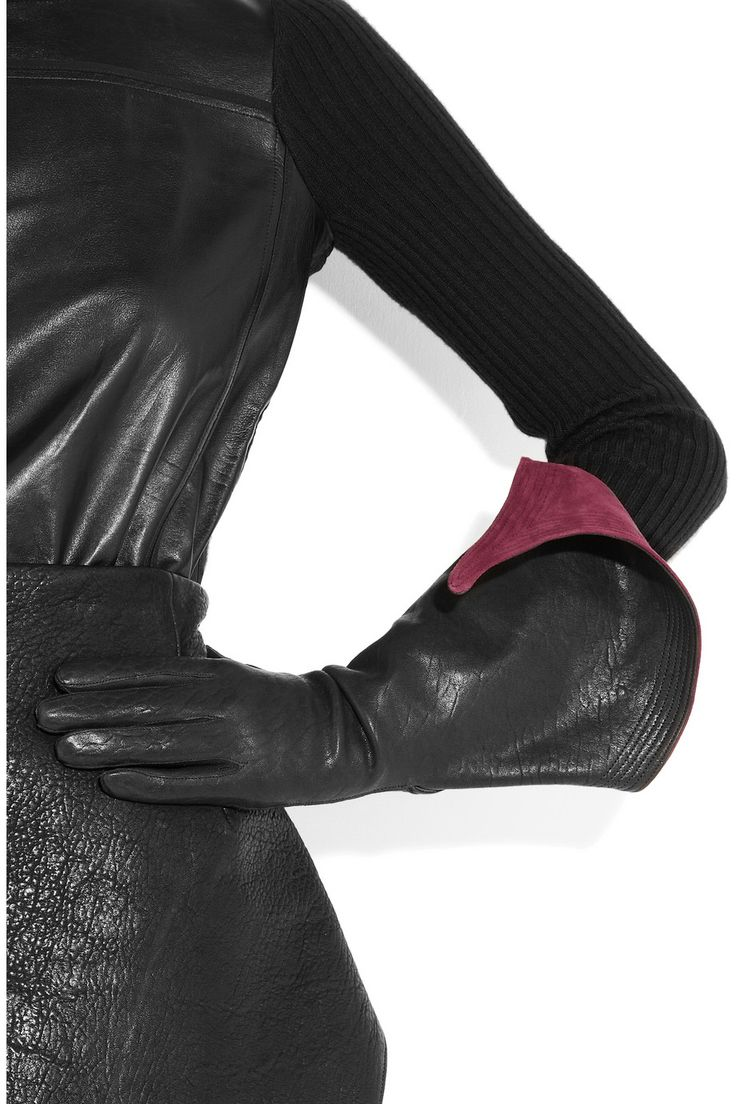 Black leather gloves brisbane - Villainess Motorcycle Gloves