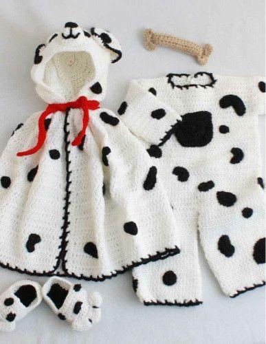 Spot Romper Set Crochet Pattern