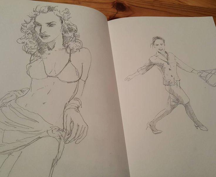 Девушки.  #drawing #illustration #portrait #sketch #pencil#girls #sketchbook #art #artwork #painting #eskiz #портрет #рисунок #карандаш #набросок #эскиз #девушки