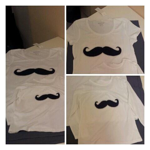 camisetas con bigotes. de absoluta tendencia