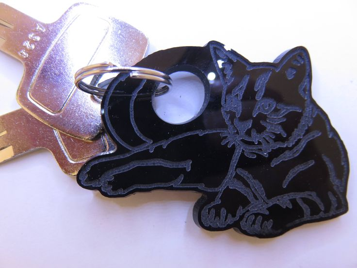 Cat KeyChain by Standoz on Etsy