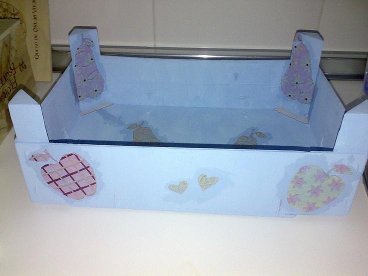 Cajas de fresas recicladas aprender manualidades es - Cajas de madera recicladas ...