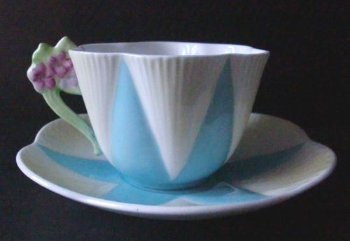 SHELLEY China Cup & Saucer- Dainty Shape Blue Star
