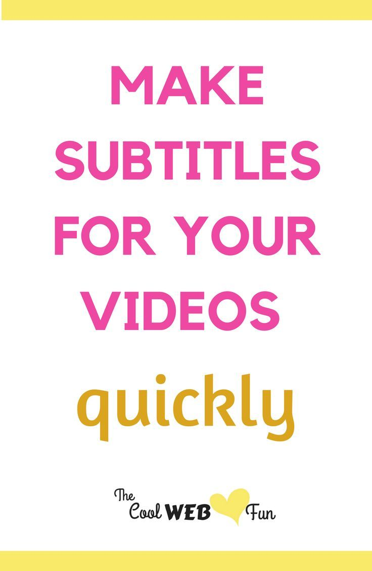 How to add subtitles to your YouTube videos? Adding subtitles makes your videos much more clearer and understood from all over the world. Check out at http://www.coolwebfun.com/how-to-add-subtitles-to-a-video/