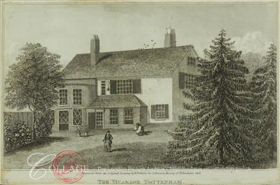 Tottenham, Haringey    View of the vicarage at Tottenham in the London borough of Haringey; Tottenham was formerly in Middlesex.    1818