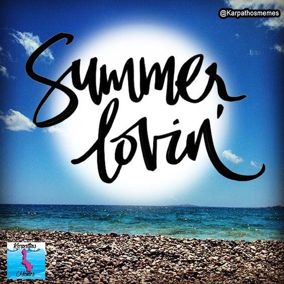 Summer Lovin' - Adrani Beach Karpathos #KarpathosMemes #KarpathosBeaches #Greece #GreekIslands #GreekBeauty #Beach #Summer #quotes #Memes