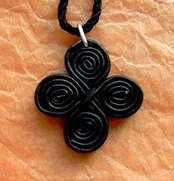 Egyptian Coptic leather cross pendant, Nice to deal with this shop. They have beautiful handmade coptic stuff. They support Christians in need in Egypt with their items.