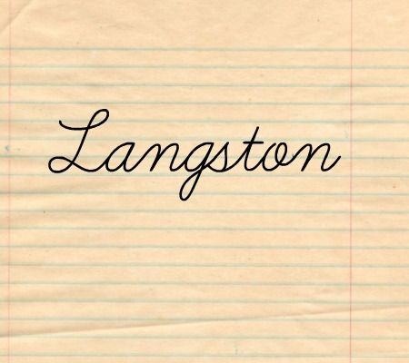 50 Baby Names Inspired by Writers: Langston could be a good alternative to names like Logan or Nolan. It is the name of jazz poet and leader of the Harlem Renaissance, Langston Hughes.