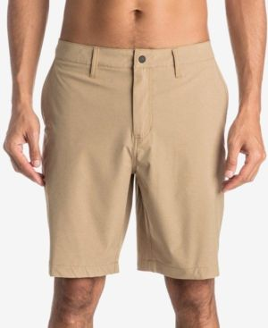 Quiksilver Waterman Men's Vagabond Flat-Front Shorts - Brown 33