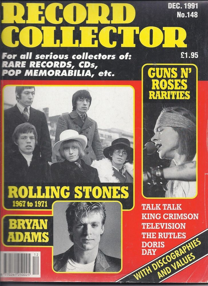 Record Collector Dec 1991 Rollings Stones Guns N' Roses King Crimson Bryan Adams