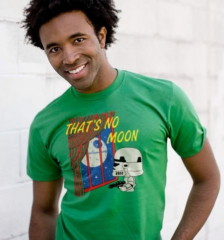 That's No Moon T-Shirt - Star Wars T-Shirt is $10 today at Busted Tees!