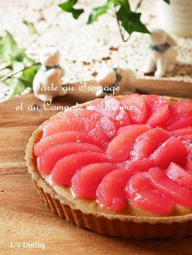「りんごのコンポートのチーズタルト」aiさん