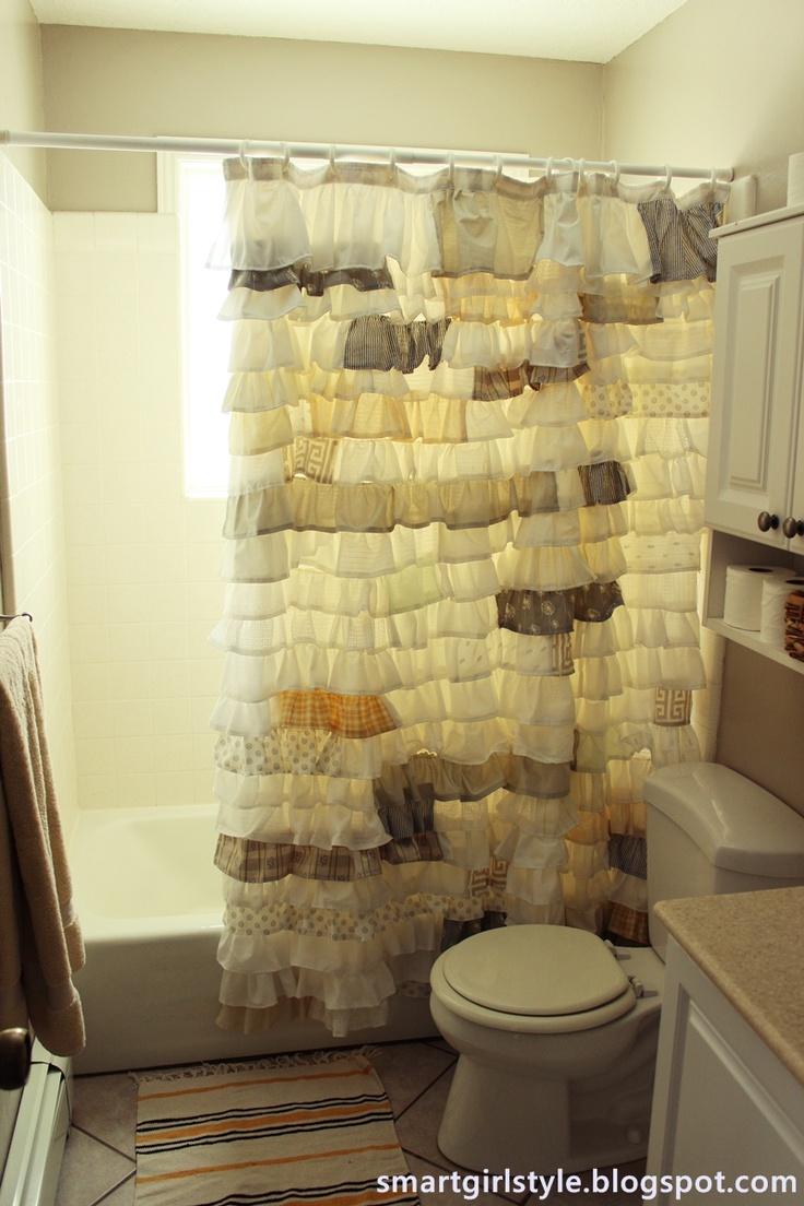 Diy ruffled shower curtain - How To Make Ruffle Shower Curtain