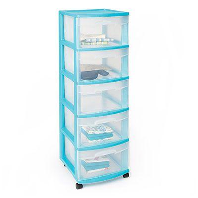 6 drawer plastic storage cart 3