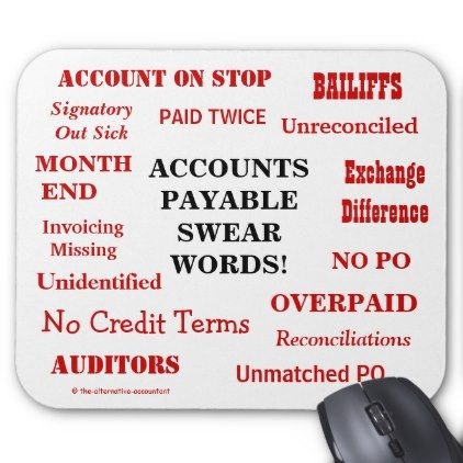 #Funny Accounts Payable Swear Words! Funny AP Mouse Pad - #office #gifts #giftideas #business
