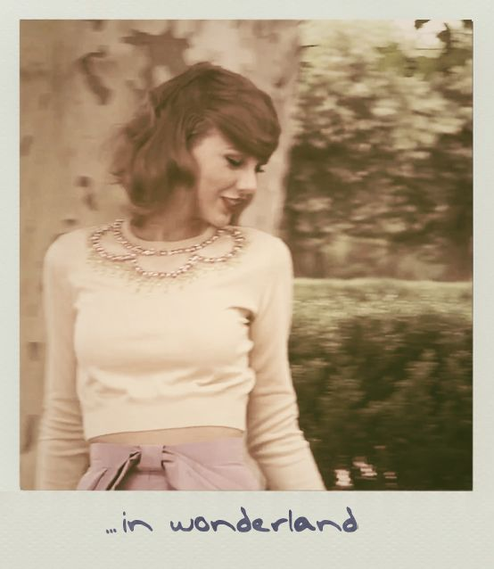 Were in Wonderland, you and I got lost in it. And life was never worse but never better. <3 One of my favorite songs by her!