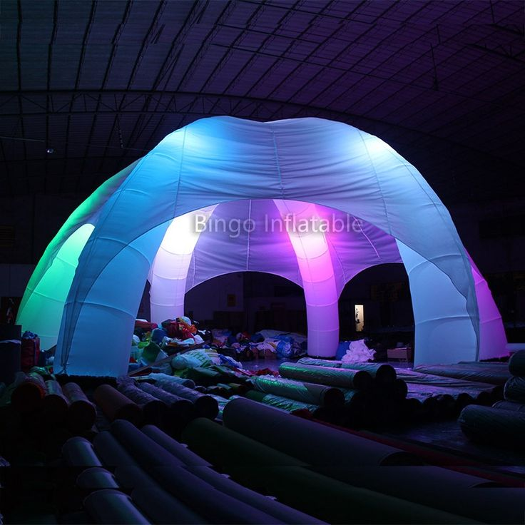 1150.00$  Buy now - http://ali27c.worldwells.pw/go.php?t=32761365808 - 10m LED Strong oxford cloth inflatable domes tents/foldable spider tent with led for sale BINGO BG-A0700-10 toy tent  1150.00$