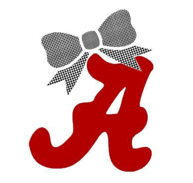 Items similar to alabama crimson tide with bow decal for laptop tablet notebook car choose or choose a color bow color on etsy