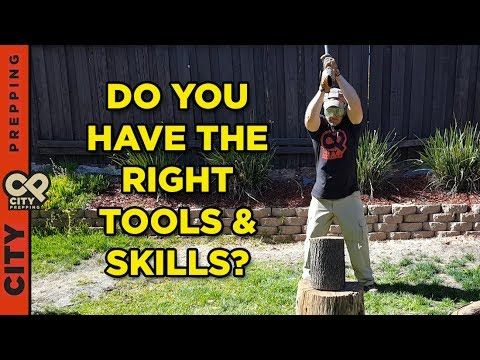 How to harvest and process firewood after a disaster (tools and skills n...
